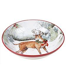 Winter Forest Serving Bowl