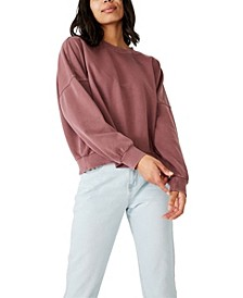 Harper Boxy Oversized Crew Sweater