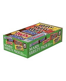 Chocolate Full Size Candy Bars Variety Pack 53.68-Ounce 30-Count Box