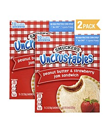 Uncrustables Peanut Butter Strawberry, 2 oz, 10 Count, 2 Pack