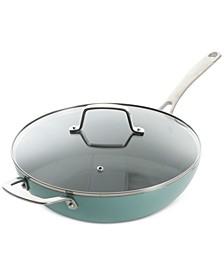 "Martha Stewart Nonstick Aluminum 12"" Essential Pan with Lid"