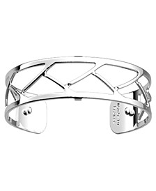 Large Chamber Openwork Thin Adjustable Cuff Tresse Bracelet, 14mm, 0.5in