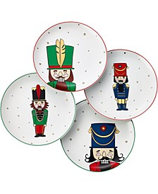 Holiday Cheer Nutcracker Salad Plates, Set of 4, Created for Macy's