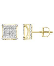 Men's Diamond (1/3 ct. t.w.) Earring Set in 10k Yellow Gold