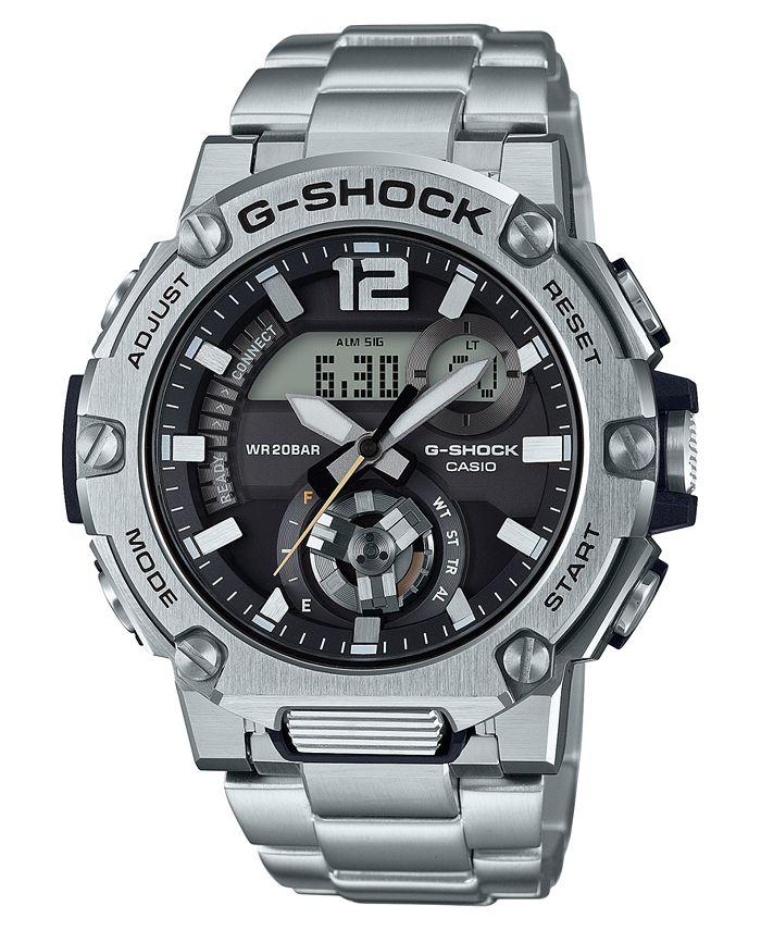 G-Shock - Men's Analog-Digital G-Steel Stainless Steel Bracelet Watch 43mm