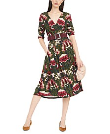 Oxiria Printed Wrap Dress