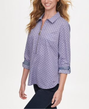Tommy Hilfiger DAISY-PRINT POPOVER TOP