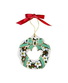 Flower and Ribbon Wreath Ornament