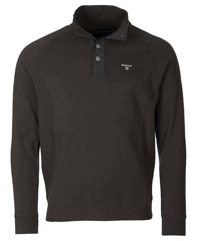 Barbour Men's Snap-Close Cotton Sweatshirt