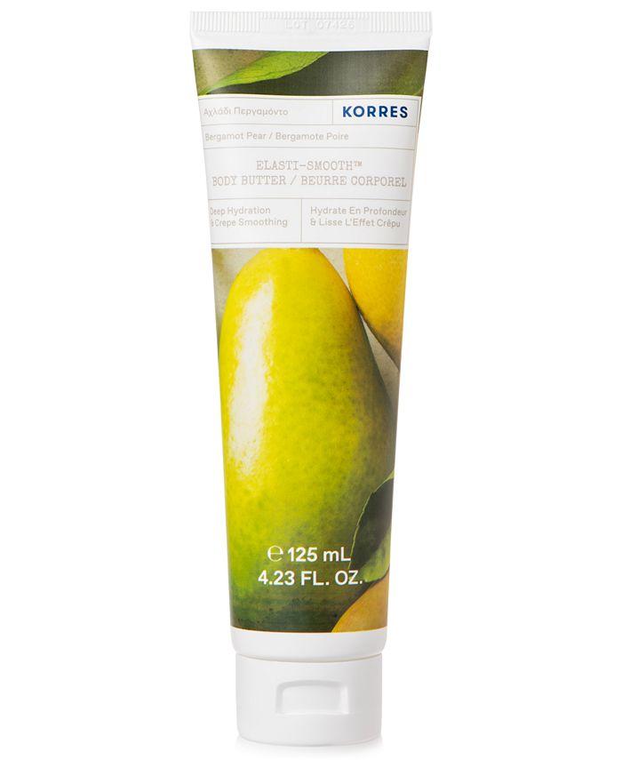 KORRES - Korres Elasti-Smooth Bergamot Pear Body Butter, 4.23-oz.