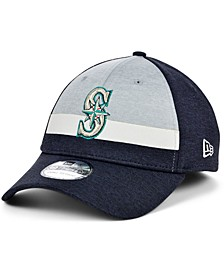 Men's Seattle Mariners Striped Shadow Tech 39THIRTY Cap