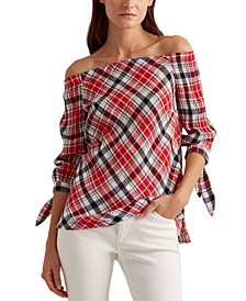 Off-the-Shoulder Crinkle Top