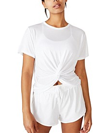 Elastic Back Twist Front T-shirt