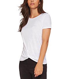 Black Tape Front-Twist T-Shirt