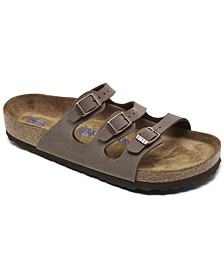 Women's Florida Birkibuc Nubuck Soft Footbed Sandals from Finish Line
