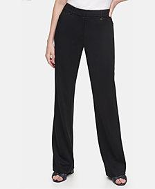 Calvin Klein Ponté-Knit Straight-Leg Pants