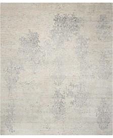 "Silk Shadows SHA14 Ivory 9'9"" x 13'9"" Area Rug"