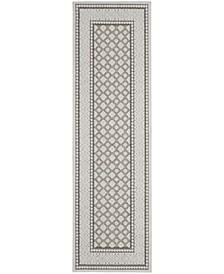 """Key Largo KLG02 Silver 2'2"""" x 10' Runner Rug"""