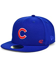 Men's Chicago Cubs Jackie Robinson 50th Patch 59FIFTY-FITTED Cap