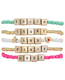 Gold-Tone 5-Pc. Set Pixie Dust Beaded Stretch Bracelets
