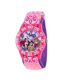 Disney Princess Ariel, Belle Girls' Pink Plastic Watch 32mm