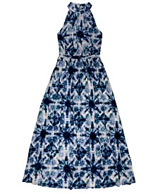 INC Petite Solar Mirage Printed Halter Maxi Dress, Created for Macy's