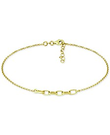 Large Link Ankle Bracelet in 18k Gold-Plated Sterling Silver & Sterling Silver, Created for Macy's