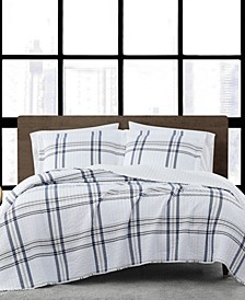 Kent Plaid King 3-Piece Quilt Set