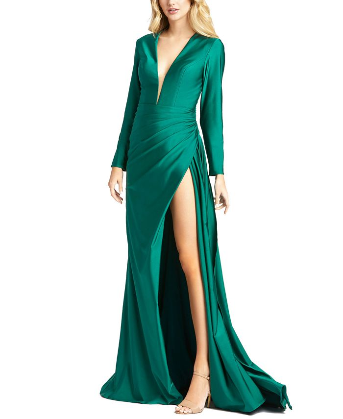 MAC DUGGAL - Side-Slit Gown