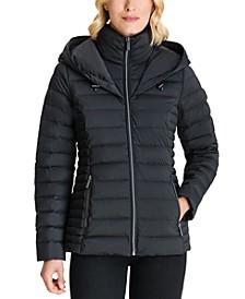 Petite Hooded Packable Waterproof Puffer Coat, Created for Macy's
