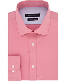 Men's Fitted THFlex Performance Stretch Solid Dress Shirt, Created for Macy's