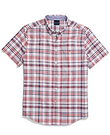 Men's Archie Custom-Fit Plaid Shirt with Magnetic Buttons
