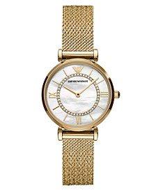 Women's Gold-Tone Stainless Steel Mesh Bracelet Watch 32mm