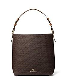 Signature Lucy Medium Hobo Shoulder Bag