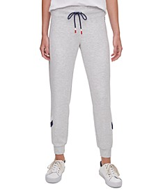Chevron-Trim Jogger Pants