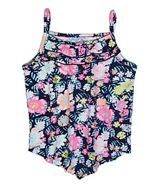 Little Girls Ditsy Floral Tank Top