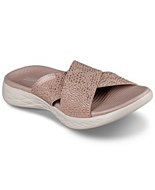 Women's On The Go 600 - Glistening Athletic Sandals from Finish Line