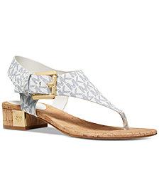 MICHAEL Michael Kors London T-Strap City Sandals