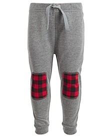 Baby Boys Buffalo Plaid Patch Jogger Pants, Created for Macy's