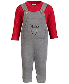 Baby Boys Reindeer Overall Set, Created for Macy's
