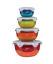 Mixing Bowl and Lid Set, 8 Piece