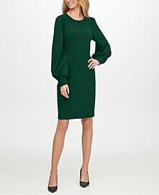 Scuba-Crepe Sheath Dress