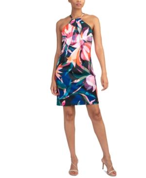 Trina Turk SIZMA PRINTED HALTER DRESS