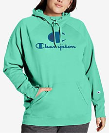 Plus Size Powerblend Graphic Hooded Sweatshirt