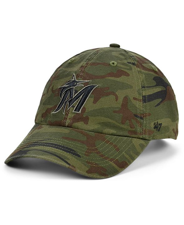 '47 Brand Miami Marlins Regiment CLEAN UP Cap