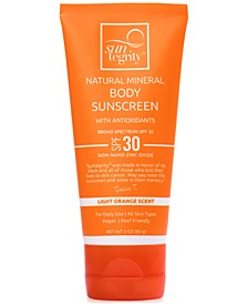 Broad Spectrum SPF 30 Natural Mineral Body Sunscreen, 3 oz