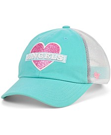 Girls Los Angeles Angels Mermaid Heart MVP Cap