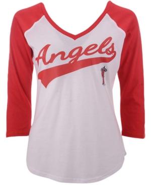 G-iii Sports Women's Los Angeles Angels Its A Game Raglan T-Shirt