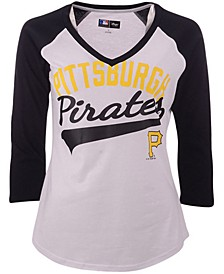 G-III Sports Women's Pittsburgh Pirates Its A Game Raglan T-Shirt
