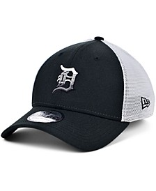 Men's Detroit Tigers Black White Gradient Trucker 39THIRTY Cap